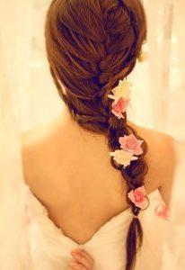 ディズニー髪型ロング1