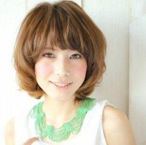 40代髪型ショート丸顔14
