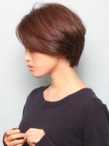 40代髪型ショート丸顔1