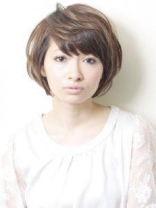 40代髪型ショート丸顔3