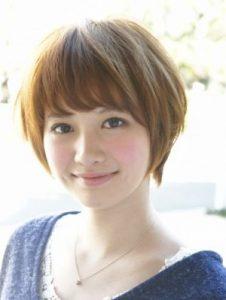 40代髪型ショート丸顔5