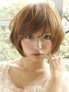 40代髪型ショート丸顔6